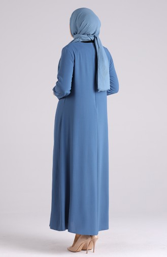 Indigo İslamitische Jurk 1313-04