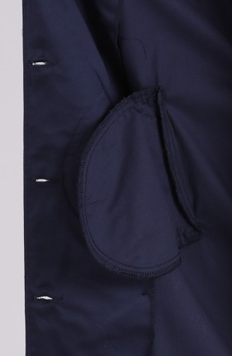 Trench Coat Bleu Marine 90007-02