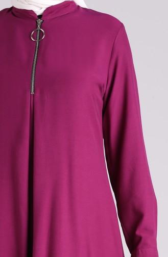 Zippered Summer Tunic 1215-05 Damson 1215-05