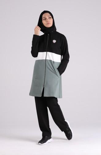 بيجامة الرياضة أسود 1081-03