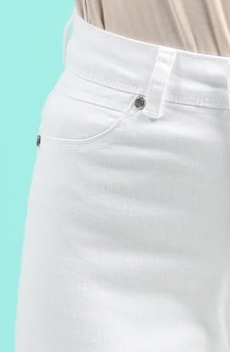 Pantalon Blanc 9100-05