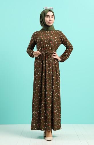 فستان كاكي 0743H-01
