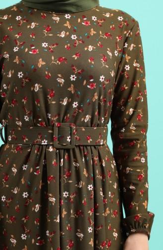 Khaki Hijap Kleider 0743H-01