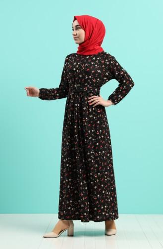 Schwarz Hijap Kleider 0743K-01