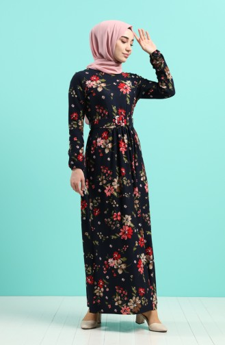 Robe Hijab Bleu Marine 0743L-01