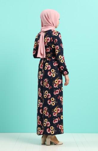 Robe Hijab Bleu Marine 0743M-01