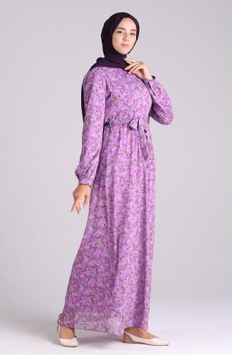 Robe Hijab Lila Foncé 20Y3064001-05