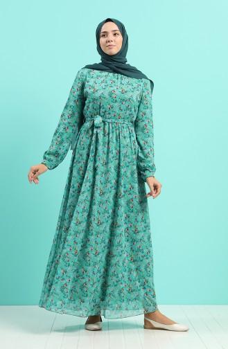 Green Almond Hijab Dress 20Y3064001-06