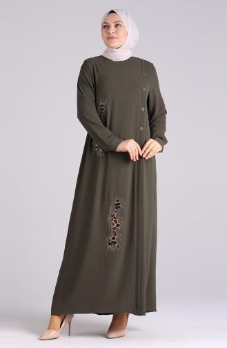 Robe Hijab Khaki 1313-06