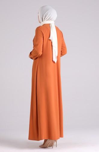 فستان أخضر تبغ 1313-07