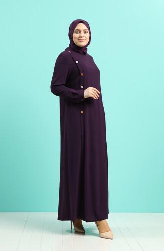 Robe Hijab Pourpre 1314-02