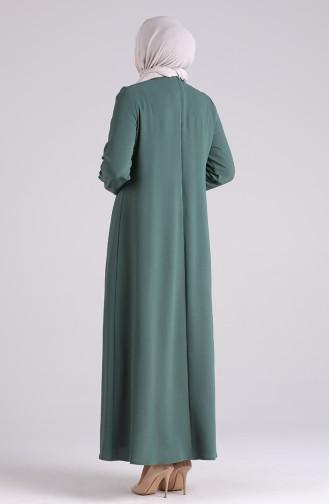 Unreife Mandelgrün Hijap Kleider 1314-05