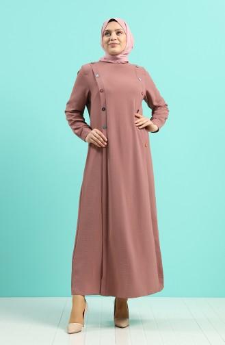 Beige-Rose Hijap Kleider 1314-06