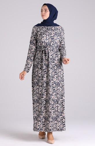 فستان أزرق كحلي 5709R-02