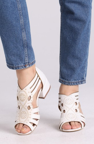 Chaussures a Talons Blanc 0523-14
