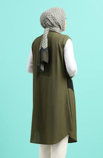 Gilet Sans Manches Khaki 1338-03