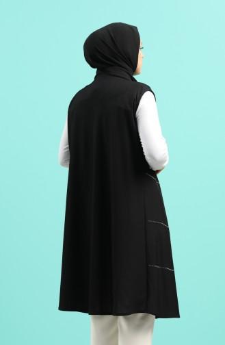 Schwarz Strickjacke 1339-06