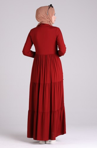 Claret red Dress 8259-05