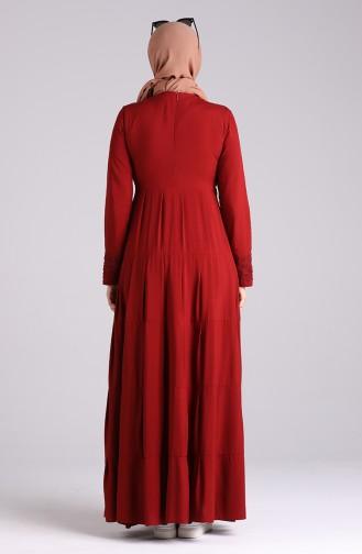 فستان أحمر كلاريت 8262-03