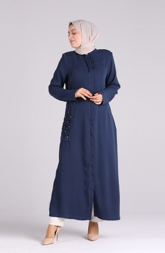 Navy Blue Abaya 0368-02