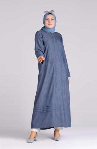 Abayas Bleu Marine 0425-01