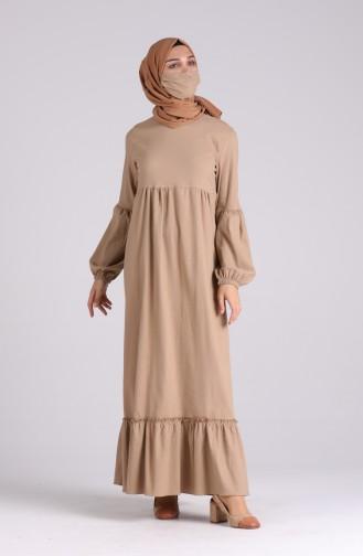 Dunkel-Nerz Hijap Kleider 1410-06