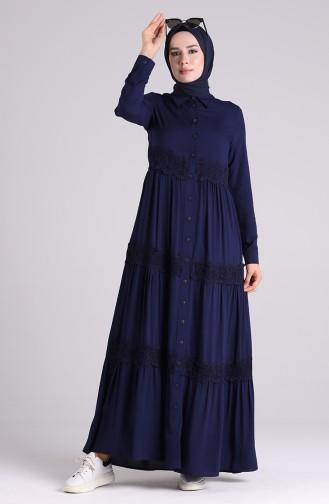 فستان أزرق كحلي 8259-01