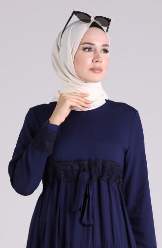 Dunkelblau Hijap Kleider 8262-05