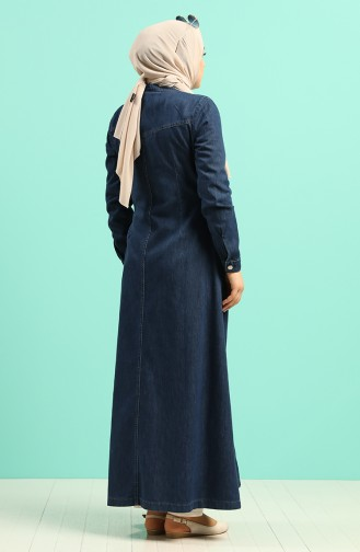 Dark Navy Blue Abaya 9261-03