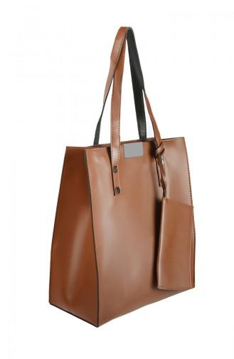 Tobacco Brown Shoulder Bag 3025-04