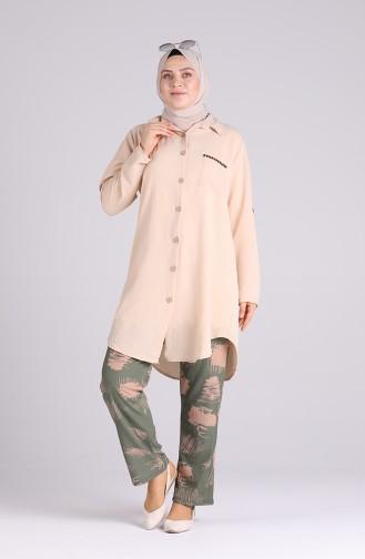 Pantalon Vert noisette 1333-02