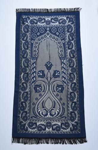 Navy Blue Praying Carpet 90638-04