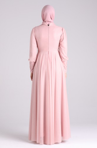 Puder Hijab-Abendkleider 1550-01