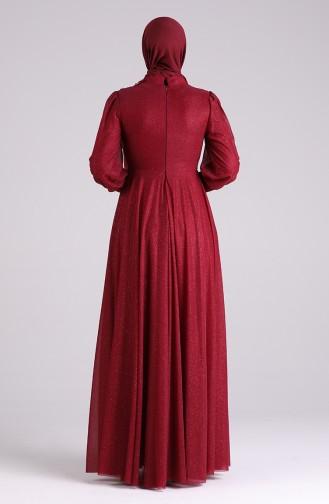 فساتين سهرة بتصميم اسلامي أحمر كلاريت 1550-03