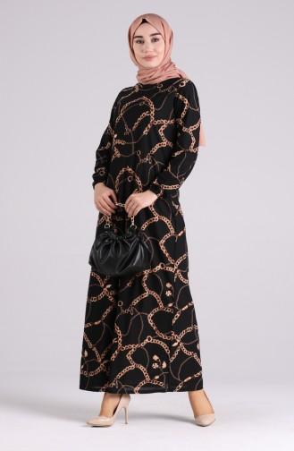 Robe Hijab Noir 8890-01