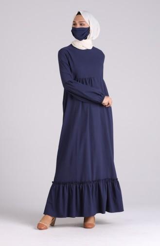Robe Hijab Bleu Marine 1410-03