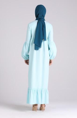 Robe Hijab Bleu Bébé 1410-08