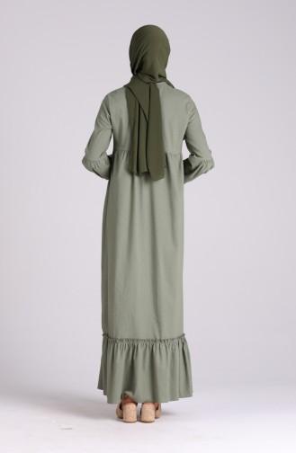Unreife Mandelgrün Hijap Kleider 1410-09