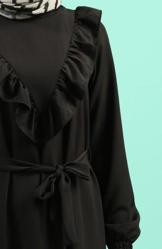 Schwarz Hijap Kleider 1323-01