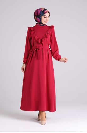 Robe Hijab Bordeaux 1323-04