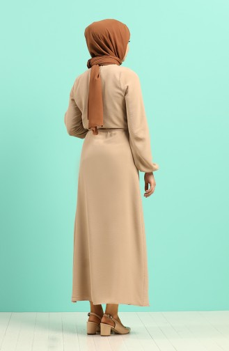 Beige Hijap Kleider 5388-12