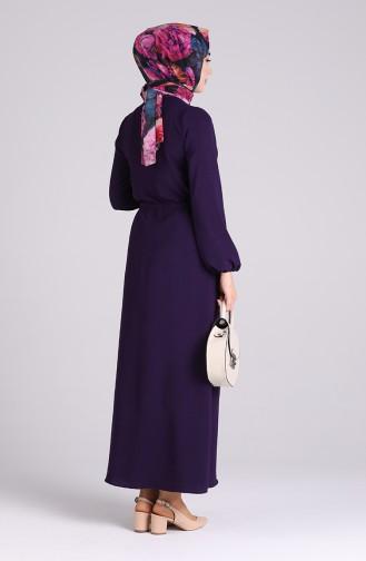 Robe Hijab Pourpre 5388-16