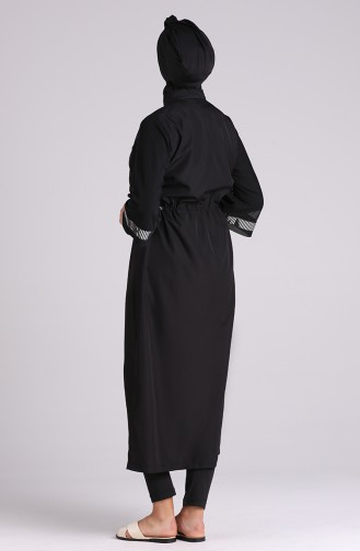 Black Swimsuit Hijab 20203-01