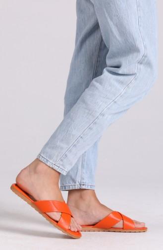 Claquettes d`été Orange 0002-07