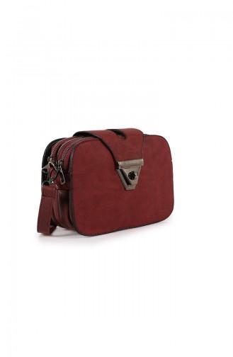 حقيبة كتف أحمر كلاريت 28Z-04