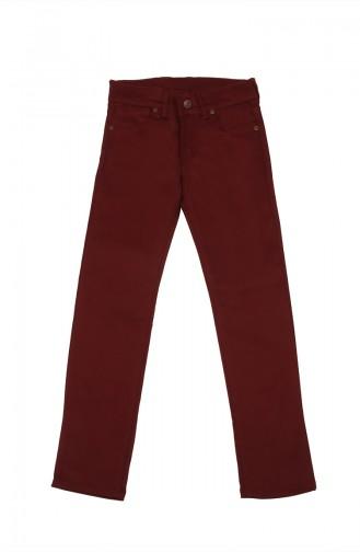 Pantalon Enfant et Bébé Bordeaux 5011-03