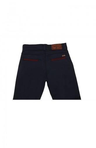 Pantalon Enfant et Bébé Bleu 6011-02