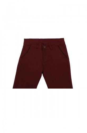 Pantalon Enfant et Bébé Bordeaux 6012-03