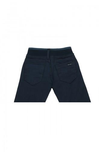 Pantalon Enfant et Bébé Bleu parlement 7001-01
