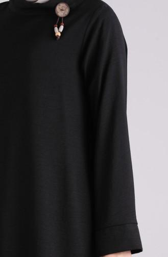 Brooch Tunic Pants Double Suit 6573-04 Black 6573-04